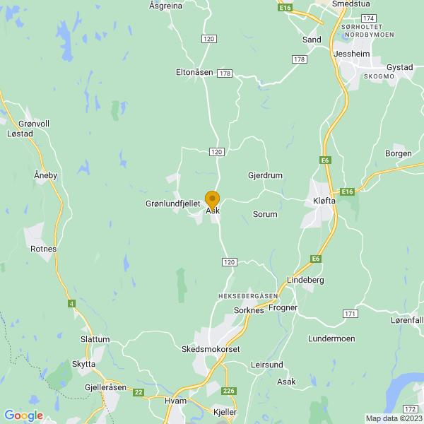 Google Map of 60.07101279999999,11.034017400000039