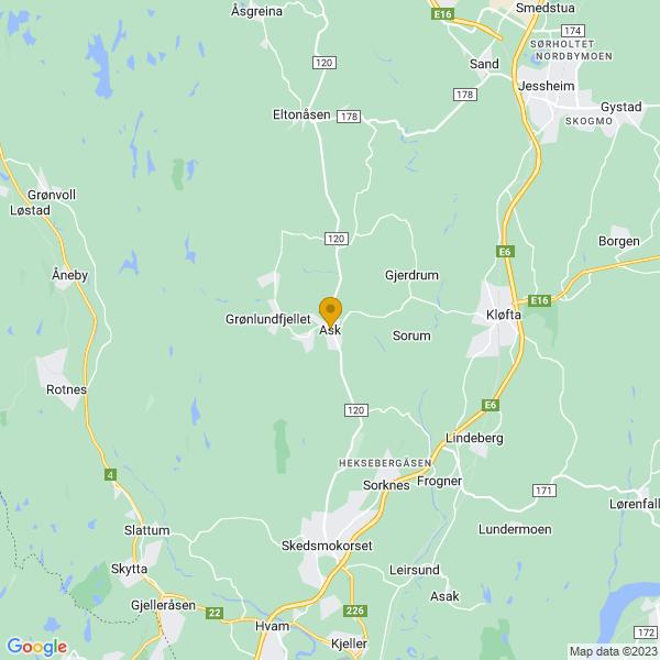 Google Map of 60.07165739999999,11.0345246