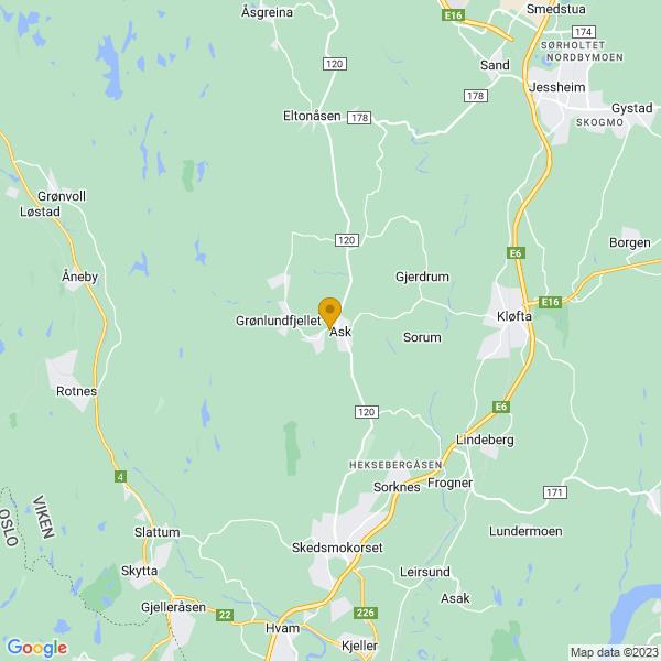 Google Map of 60.0720034,11.0279528