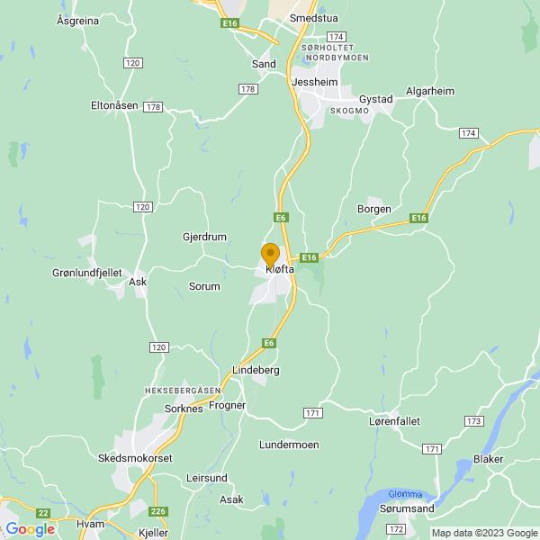 Google Map of 60.0760861,11.1355978