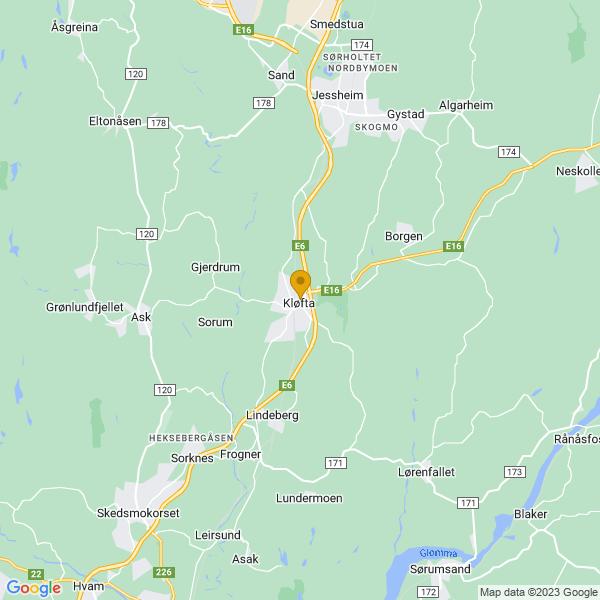Google Map of 60.07737909999999,11.143674099999998