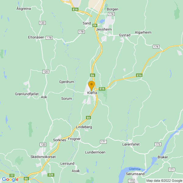 Google Map of 60.07790780000001,11.141738700000019