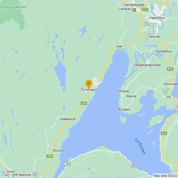 Google Map of 60.08614709999999,10.0977955