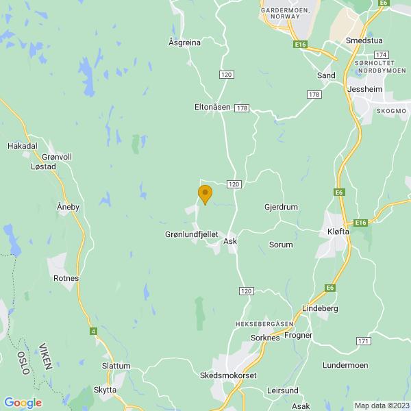 Google Map of 60.0893676,11.009577499999978