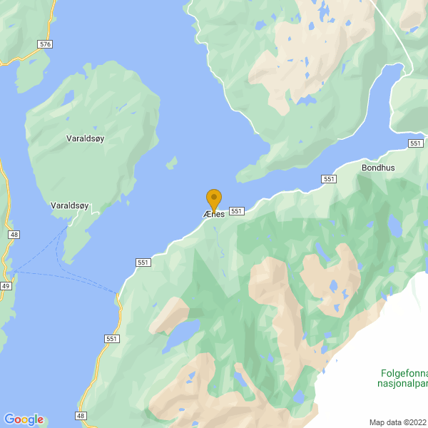 Google Map of 60.0925291,6.113302