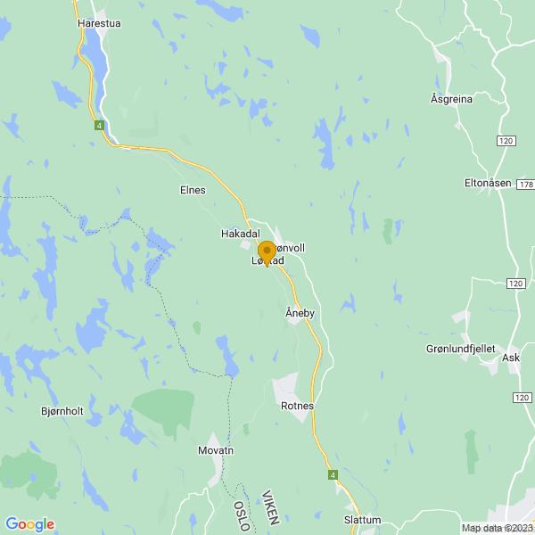 Google Map of 60.10616169999999,10.84677750000003
