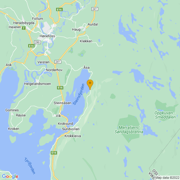 Google Map of 60.10659584484432,10.353927612304688