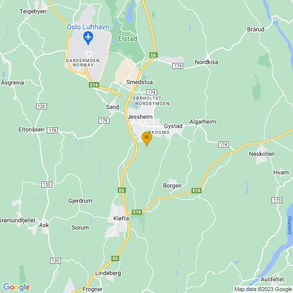 Google Map of 60.12663490000001,11.17885709999996