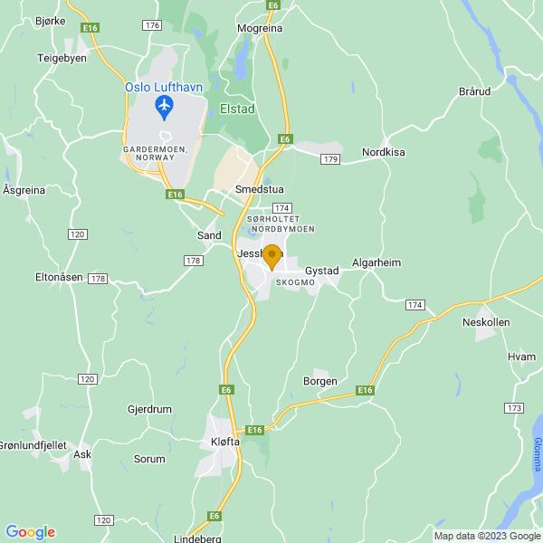 Google Map of 60.1408579,11.1779828