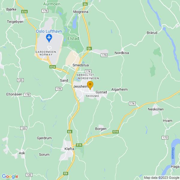 Google Map of 60.143427537437496,11.190604395336905