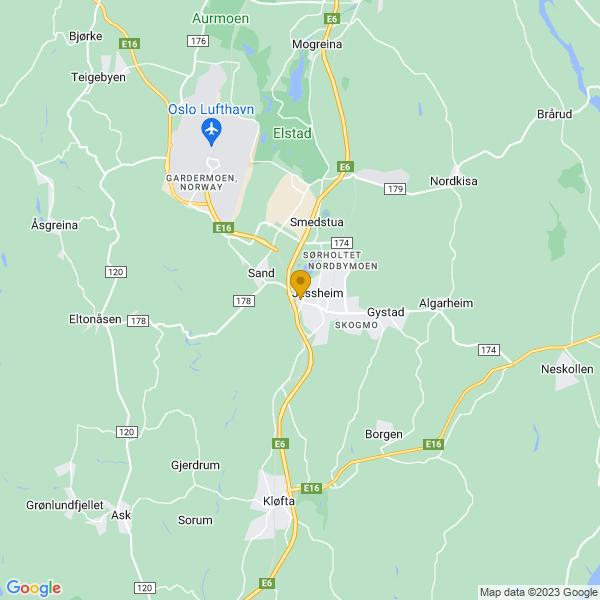 Google Map of 60.14514239999999,11.15746999999999