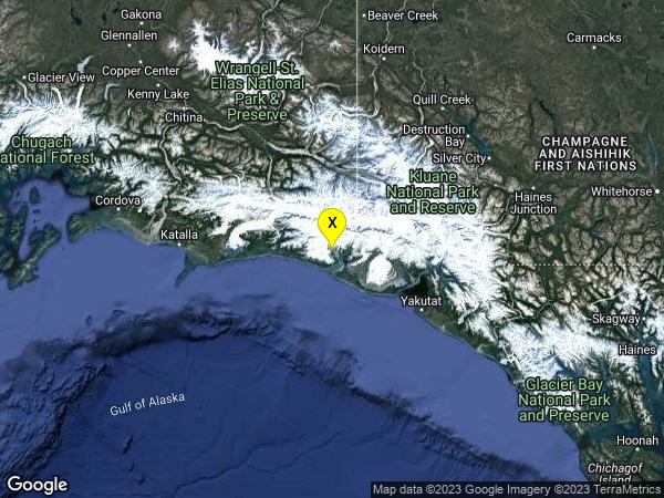 earthquake 52km E of Cape Yakataga, Alaska