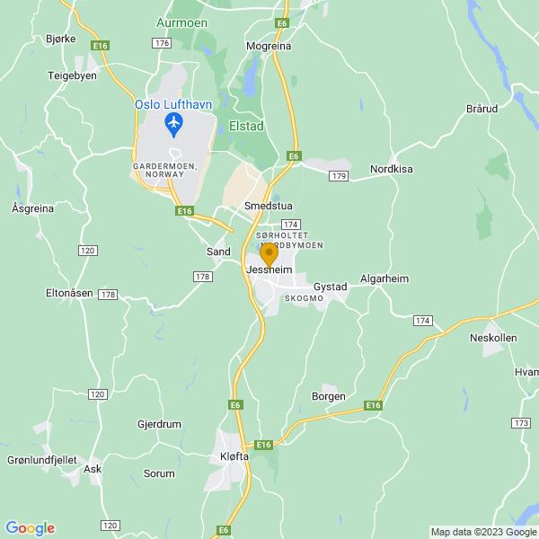 Google Map of 60.14758189999999,11.169393000000014