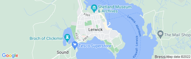 Map Of Lerwick