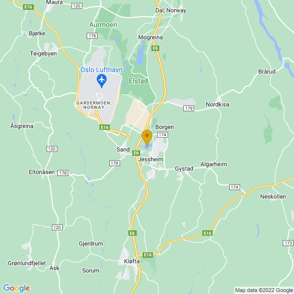 Google Map of 60.15630729999999,11.16413979999993