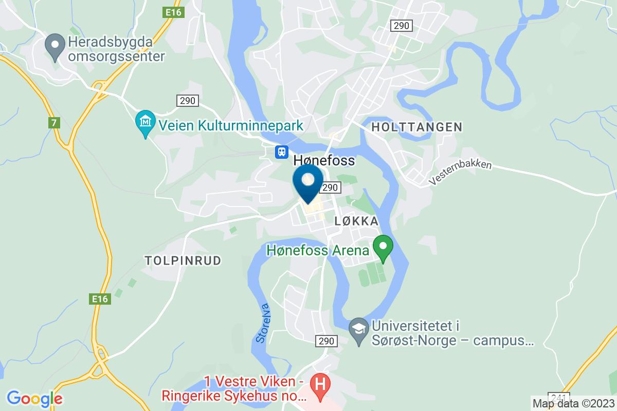Google Map of 60.1647745,10.254316499999959