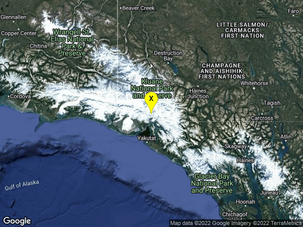 earthquake 71km N of Yakutat, Alaska