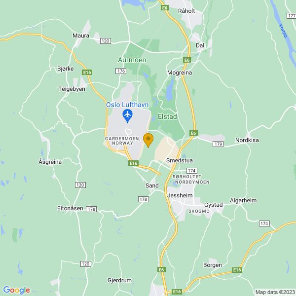 Google Map of 60.1803675,11.1250734