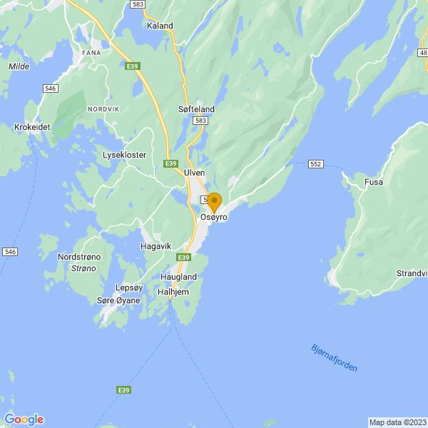 Google Map of 60.1857675,5.469141599999999