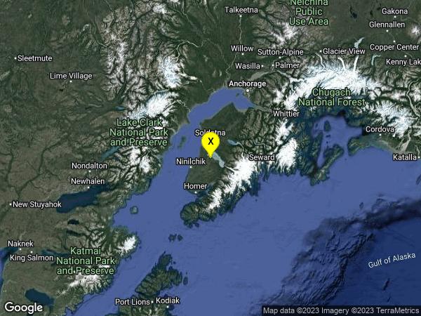 earthquake 24km SE of Cohoe, Alaska