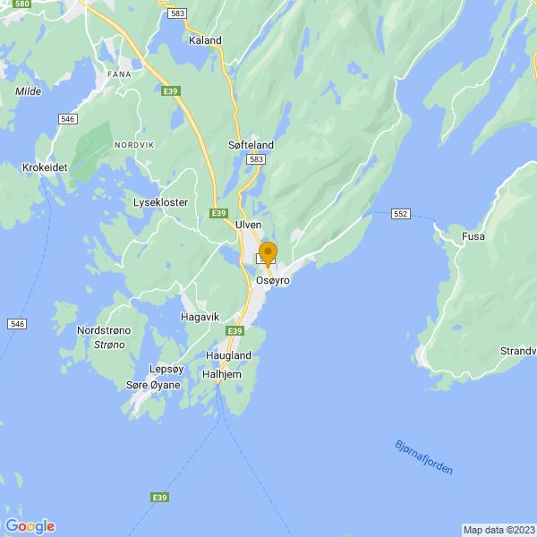 Google Map of 60.188846,5.4655844