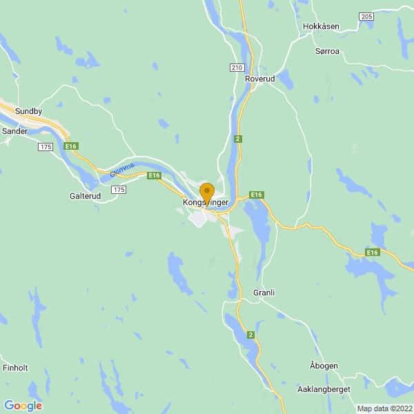 Google Map of 60.19014201419985,11.999560189175554