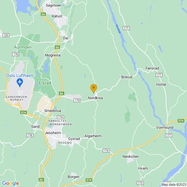 Google Map of 60.19058870000001,11.258984999999939