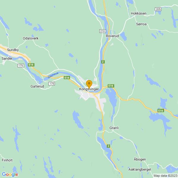 Google Map of 60.192443,11.99866910000003