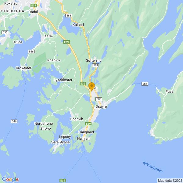 Google Map of 60.2011694,5.4471823