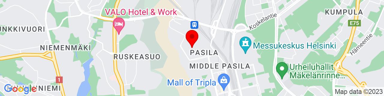 Google Map of 60.2039857, 24.921315999999933