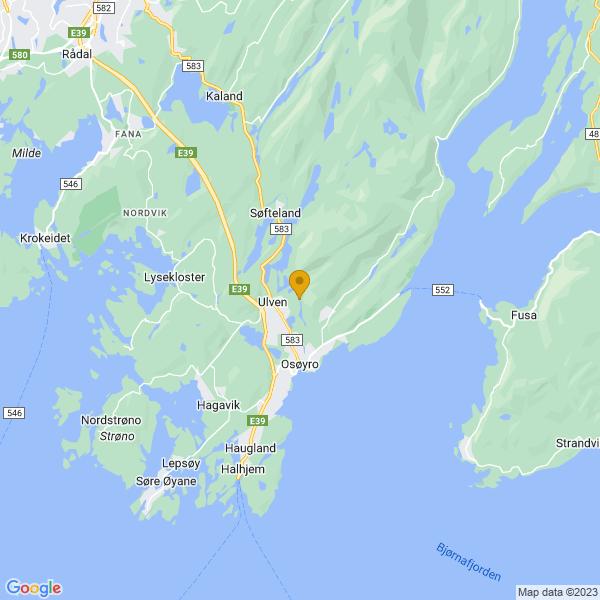 Google Map of 60.206243,5.469030099999999