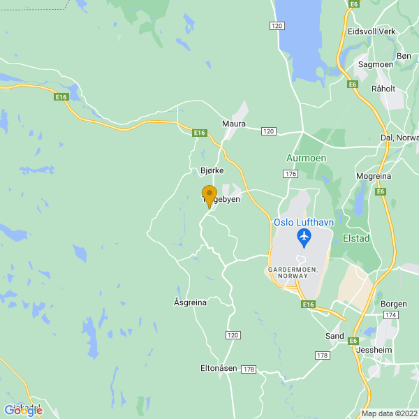 Google Map of 60.21645099999999,11.0072947