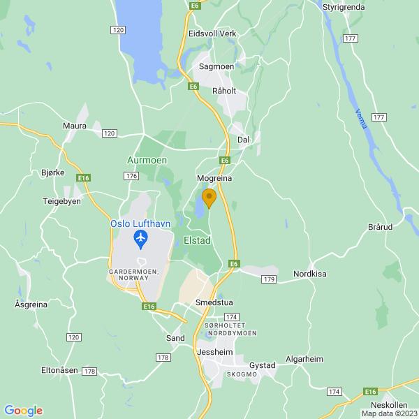 Google Map of 60.21742053780922,11.163827308598343