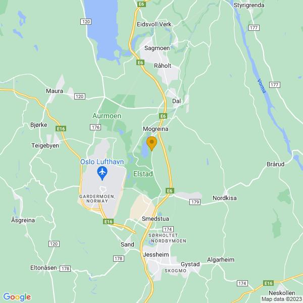Google Map of 60.21742620000001,11.163768300000015