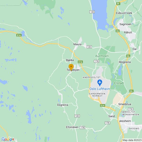Google Map of 60.219757,11.013437