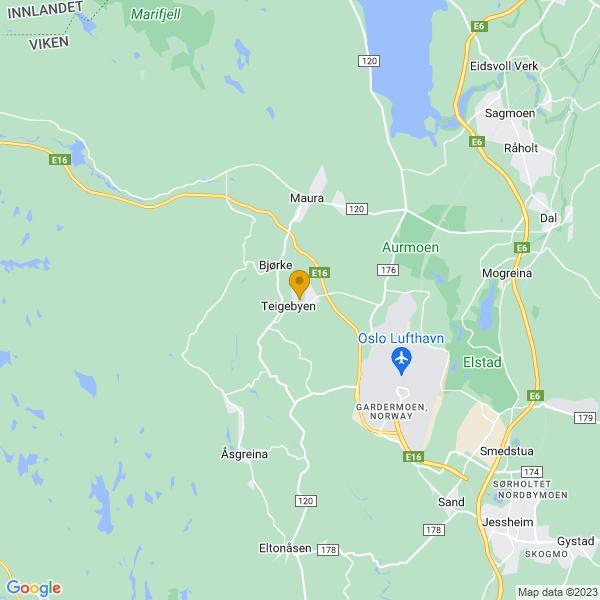 Google Map of 60.22351119999999,11.0266636
