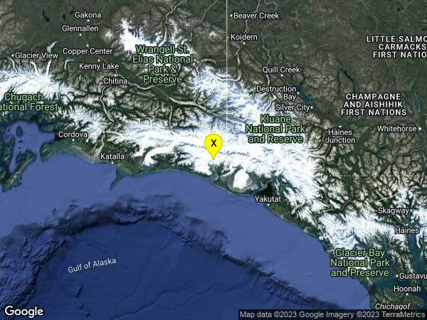 earthquake 59km ENE of Cape Yakataga, Alaska