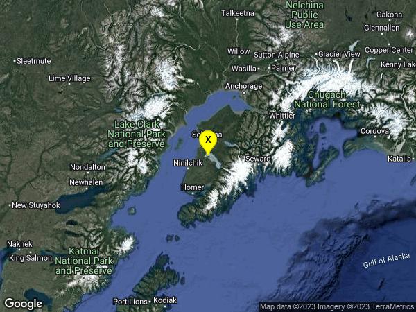 earthquake 21km SE of Cohoe, Alaska