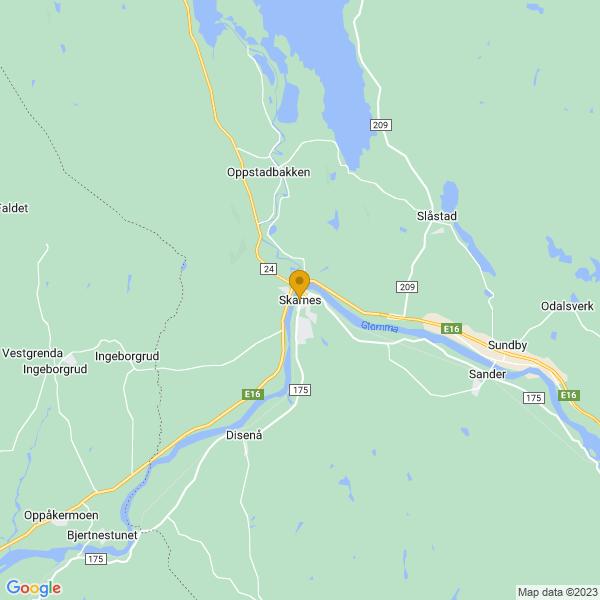 Google Map of 60.2528412,11.679744000000028