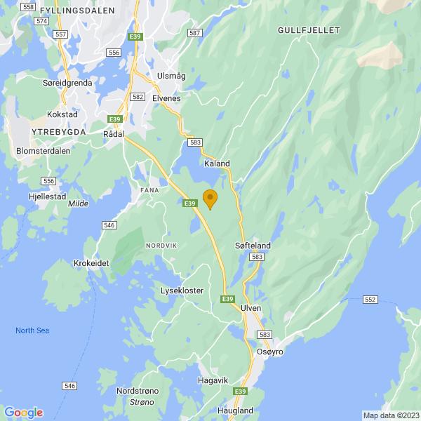 Google Map of 60.25307480000001,5.410696499999999