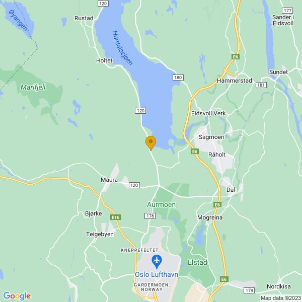 Google Map of 60.27755772237068,11.088423728942871