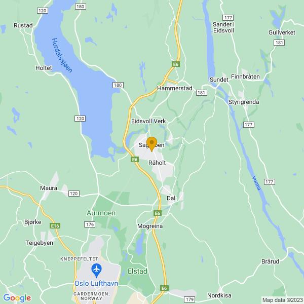 Google Map of 60.28245549999999,11.1717132