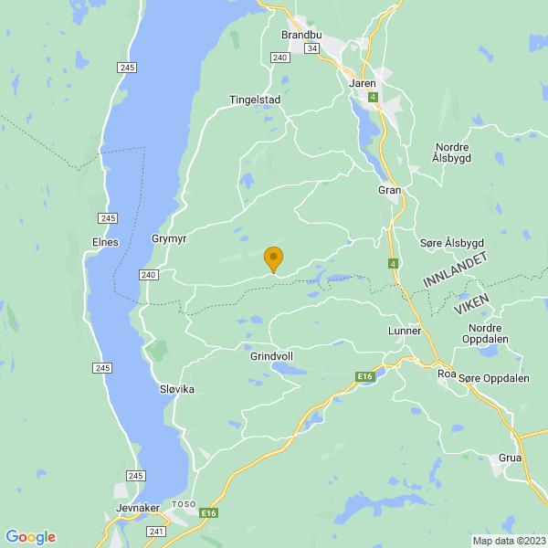 Google Map of 60.3278719,10.4854938