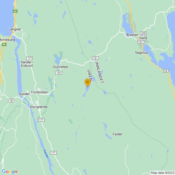 Google Map of 60.33860369999999,11.411667099999931
