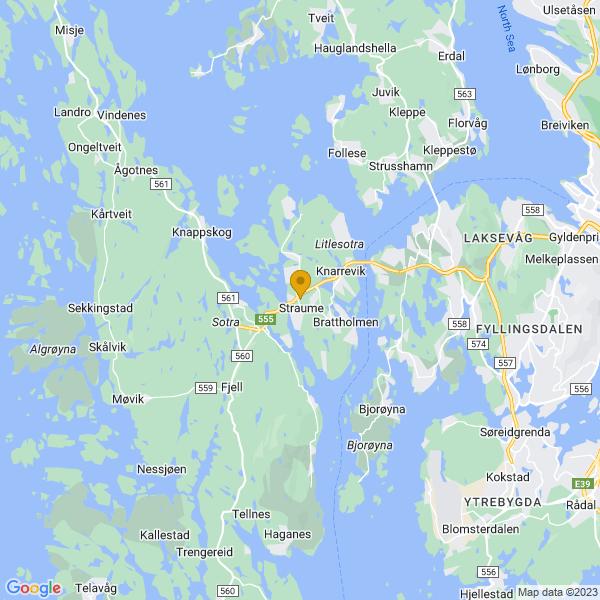 Google Map of 60.3599485,5.1231138