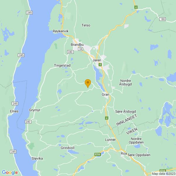 Google Map of 60.36660699999999,10.531595400000015