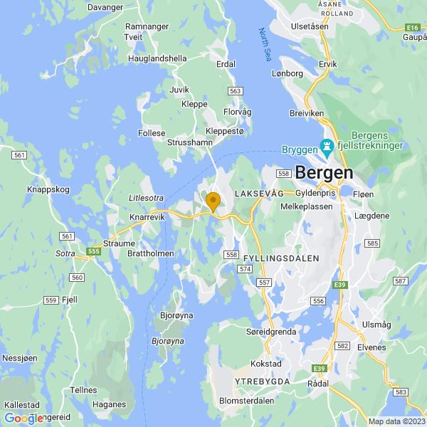 Google Map of 60.3713813,5.2149446