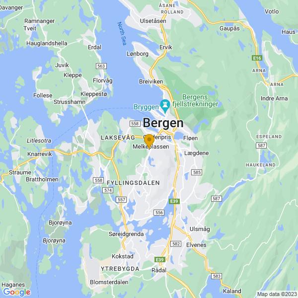 Google Map of 60.37301770000001,5.3024835