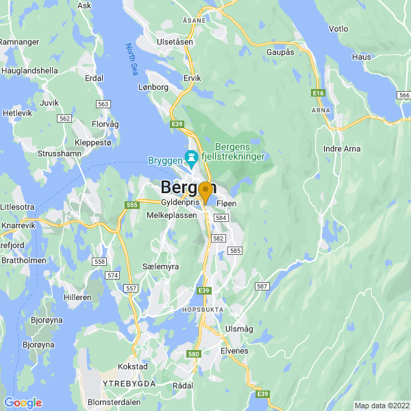 Google Map of 60.3795837,5.3389951