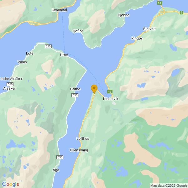 Google Map of 60.3806654,6.686173999999999
